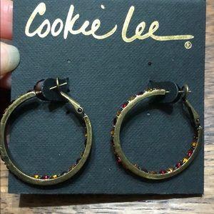Cookie Lee USC Hoop Earrings